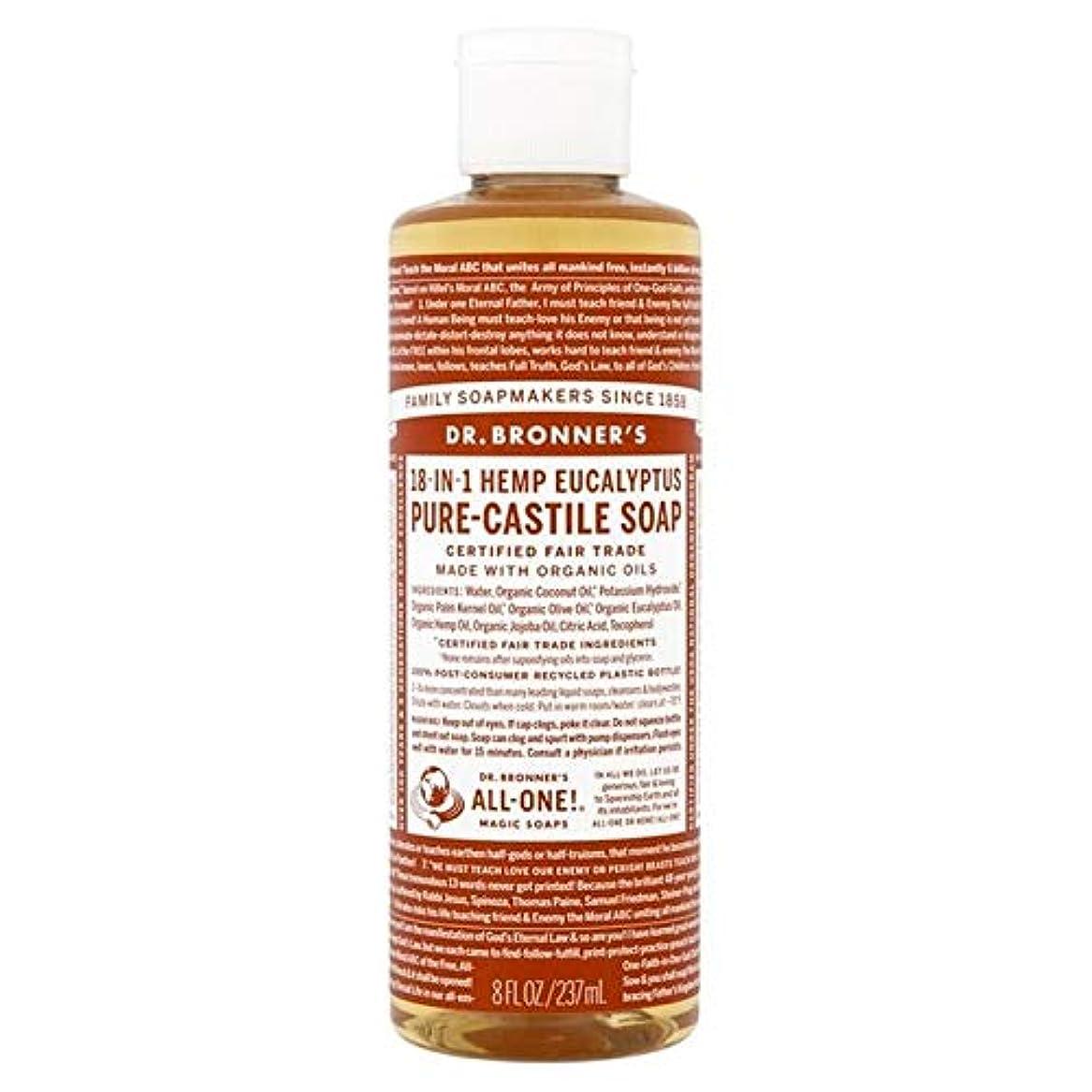 ロック部分的にモトリー[Dr Bronner] Dr。ブロナーズ有機ユーカリの純粋な-カスティーリャ液体石鹸237ミリリットル - Dr. Bronner's Organic Eucalyptus Pure-Castile Liquid Soap 237ml [並行輸入品]