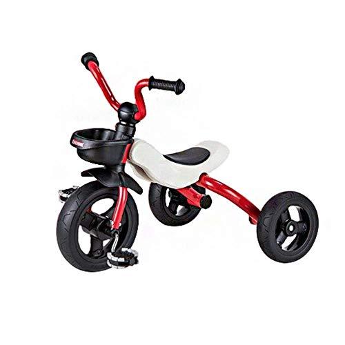 WLD Trike Trainingsfiets voor kinderen, driewielers, kinderfiets, klapkinderwagen, kinderwagen, S driewieler, antislip pedaal, 3 kleuropties, beste keuze voor verjaardagscadeaus rood