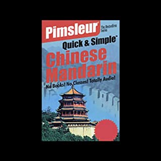 Pimsleur Quick and Simple Chinese Mandarin for English Speakers audiobook cover art