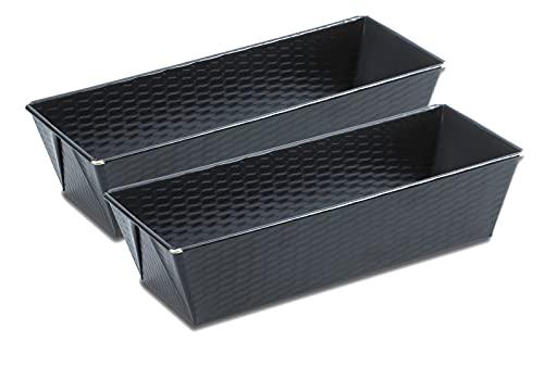 Grizzly Brotbackform, 2x Kastenform 25 x 11,5 cm, sauerteigbeständig, antihaft, Kastenbackform für Brot und Kuchen