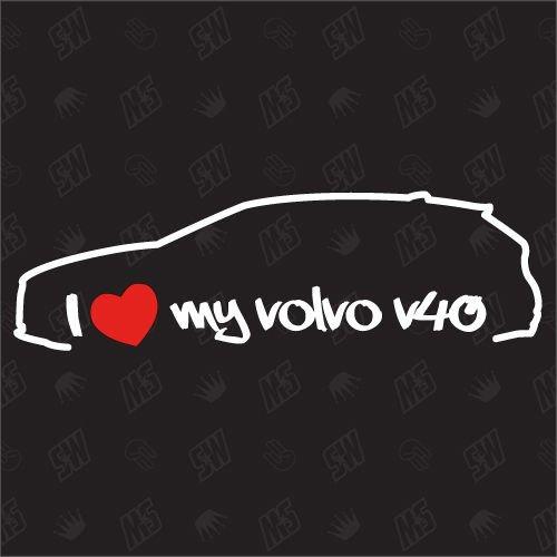 speedwerk-motorwear I Love My V40 Kombi - Sticker für Volvo - ab Bj. 2012