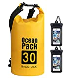 flintronic® Bolsa Impermeable, Bolsa de Hombro Impermeable IP66, para Canoa Kayak Barco Camping Natación Rafting Velo Pesca (Incluye Bolsa Impermeable para Teléfono Celular)