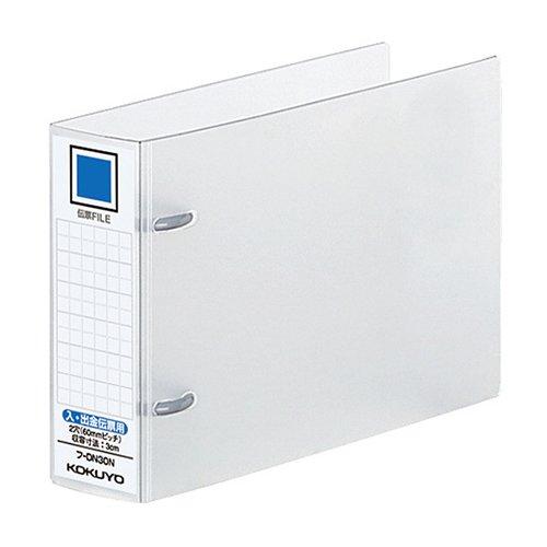 [コクヨ 9115439] (まとめ)伝票ファイル(PP表紙)入・出金伝票用 2穴 30mmとじ 10冊