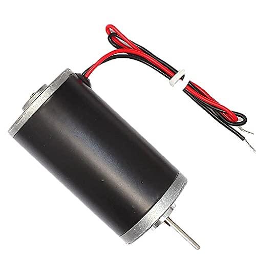 LITOSM Motor DC Corriente Continua Motor, 6V / 12V / 24V DC Cepillo de carbón del Motor de Alta Velocidad CW/CCW DC Motor de Bricolaje Generador (Speed(RPM) : 8000 RPM, Voltage(V) : 24V)