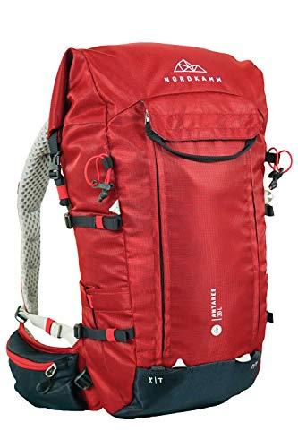 NORDKAMM Sac à dos de randonnée homme et femme 30L 40L Ergonomique Ski Escalade Rouge Bleu, rouge, 30 l