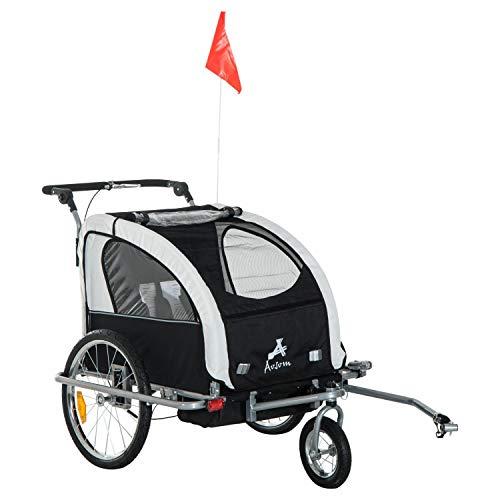 Read About Alek...Shop Multi-Function 2 in 1 Child Trailer Baby Bike Stroller Double Seat 3 Wheel, T...
