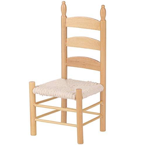 Accesorios para sillas de casa de muñecas Miniaturas de muñecas de época 1:12(color madera)