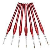 N/ A Sable Hair Brush Set of Brushes Detalles Pincel En Miniatura Pintura Artística para Uñas Artísticas