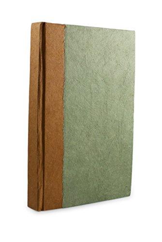 Nepali Namaste Schreib- und Gebets-Tagebuch mit handgefertigtem Vintage-Lokta-Papier und pflanzlich gefärbtem Hardcover, hergestellt in den Himalaya von Nepal, 15,2 x 22,9 cm, Salbei