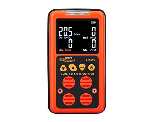 4 in 1 Multi Digital-Gas-Detektor Gasmonitor CO O2 H2S LEL Wiederaufladbare Gaszähler Gas Analyzer Meter Luftüberwachung Gas-Leck-Tester