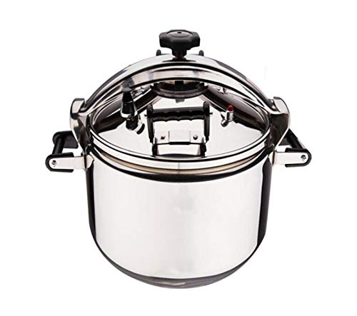 SJHSAIU 3L-40L Commercial Pressure Cooker Large Capacity Explosion-Proof Soup Pot Stainless Steel Multi-Size Pot Restaurant Large Pressure Cooker Suitable for Hotels, Restaurants, Schools, etc.