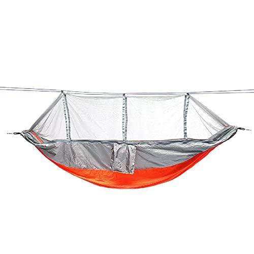 LKOER Camping Hamaca al Aire Libre Doble 2 Personas Hamaca Camping Tienda Colgando Columpio Cama con mosquitera Hamaca de Viaje al Aire Libre jinyang