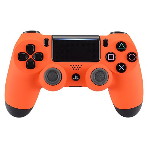 eXtremeRate Soft Touch Grip Orange Front Housing Shell Faceplate for Playstation 4 PS4 Slim PS4 Pro...