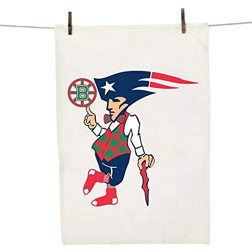 Awesome Boston Sports Teams Dish Towel - Cool Novelty BBQ Kitchen Gift for Patriots Redsox Celtics and Bruins Fans!