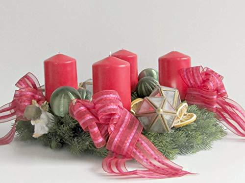 Adventskranz Laterne Kupfer Tannenbaum Tanne Goldrot Weihnachten Kranz Gold Advent Zitronen Kugeln Hirsche Schleifen Bänder Sterne Kugeln Hirsche Rehe Kerzen