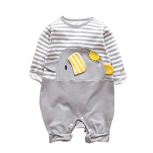 CIELLTE Bebe - Infantile pour Bebe Filles Body VêTements BéBé Jumpsuit Rayé éLéPhant Barboteuse Filles De BéBé GarçOns 2019 Pyjama BéBé 1PC
