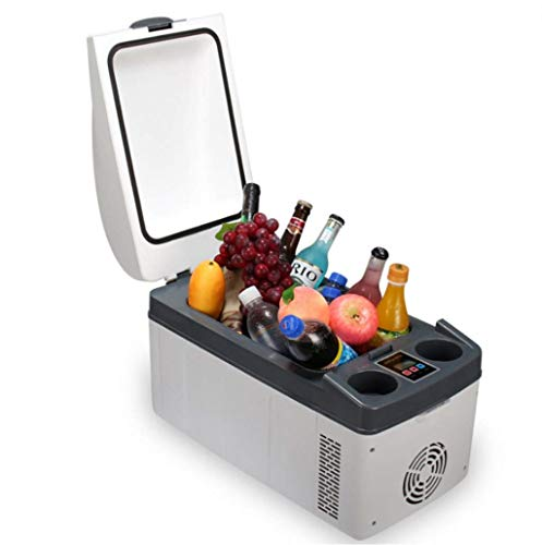 LCSD Mini Nevera 20L Refrigerador Portátil Congelador Compresor Compresor Enfriador Eléctrico AC Y DC Mini Refrigerador for Automóvil Y Hogar