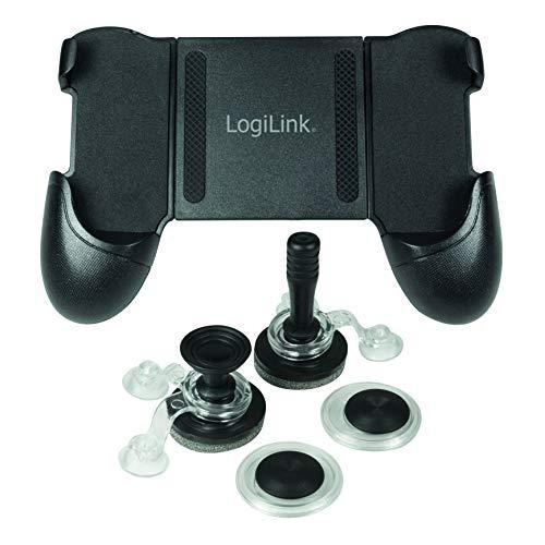 LogiLink AA0118 Mobiles Touchscreen Gamepad - Smartphone Controller für Android und iOS Schwarz