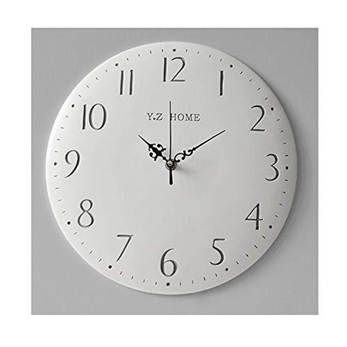 LYM * Wandklok Muto Wandklok in Scandinavische stijl AA Quartz uurwerk AntiGraffium Slaapkamer Decoratie Eenvoudige klok 12 inch van hars * Digital