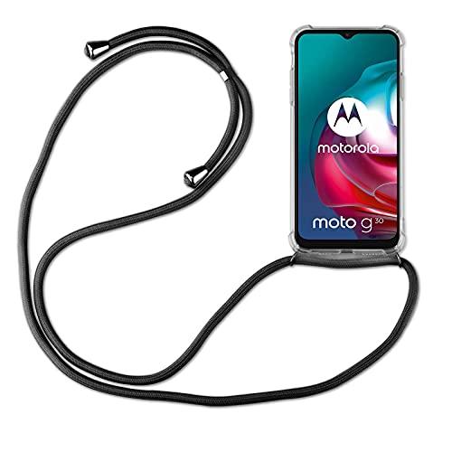 betterfon | Handykette kompatibel mit Motorola Moto G10 / G30 Smartphone Necklace Hülle mit Band - Schnur mit Hülle zum umhängen in Motorola Moto G10 / G30 Schwarz