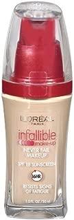 L'Oreal Paris Infallible Advanced Never Fail Makeup, Nude Beige, 1.0 Ounces