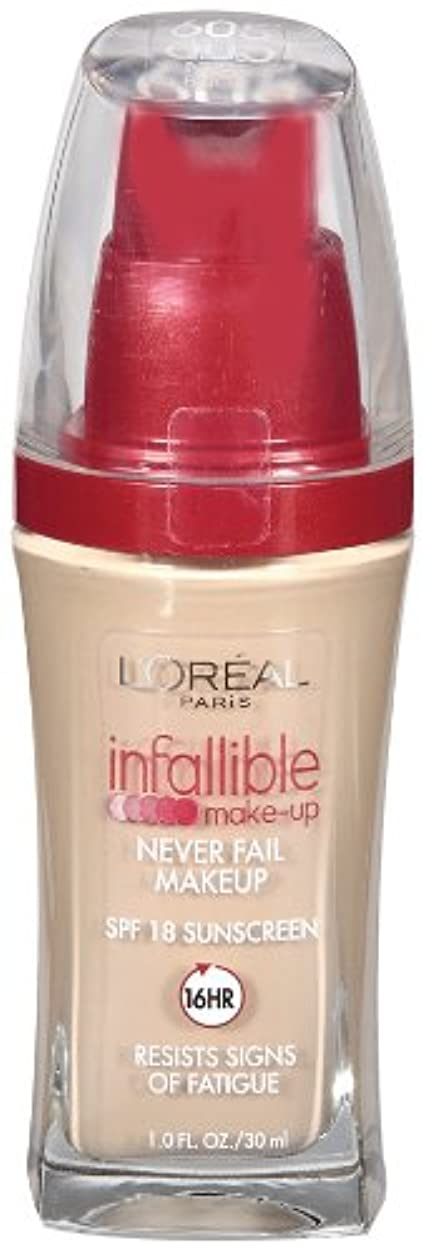好きであるマーベル間接的L'OREAL INFALLIBLE ADVANCED NEVER FAIL MAKEUP #605 NUDE BEIGE