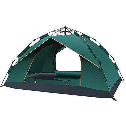 LUSHUN Pop Up Wurfzelt 1-2 Person Mann, Campingzelt, Tragbares Strand Zelt, mit Moskitoschutz, Kompaktes, für Familiengarten Camping Familiengarten Angeln,Grün