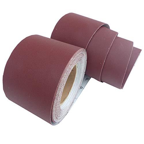 25m Schleifpapier Rolle 115mm X 25m Korn P240 Schleifband Schleifrolle Rollenschleifpapier BOHRFUX