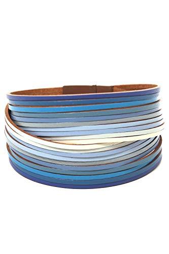 collezione alessandro Armband Darlin mit dünnen Spaltlederbänder