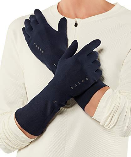 FALKE Unisex Handschuhe Light, nahtlose Handschuhe für Damen und Herren aus Funktionsfaser, zum Unterziehen geeignet, im Winter, zum Sport, Laufen, 1 Paar, Blau, Größe: S