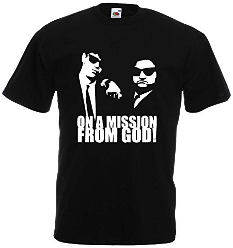Blues Brothers Mission from GOD Herren T-Shirt NEU Kult S-XXXL Schwarz-XL