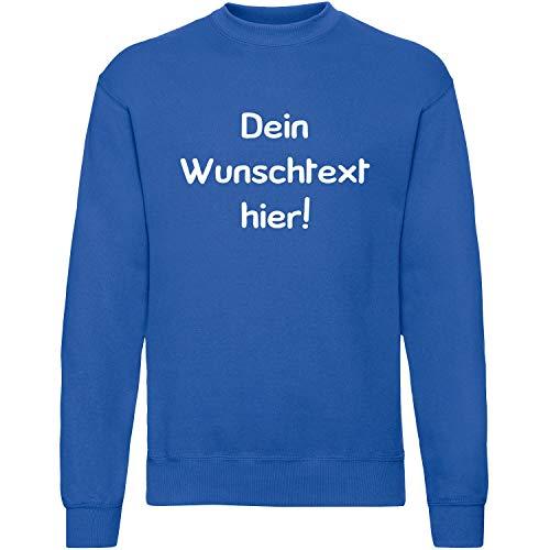Shirt-Panda Herren Sweatshirt mit Wunschname Wunschdruck · Brust und oder Rücken Druck Men Personalisiert Personalisierbar Sprüche Damen Unisex Anpassen Royalblau XL