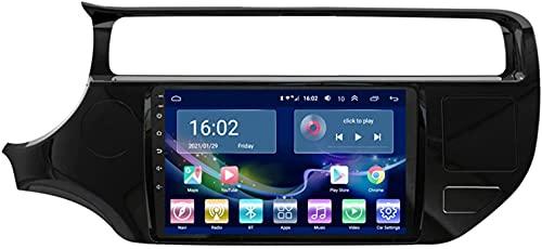 SAJK Estéreo para automóvil para KIA Rio 2015-2016 Reproductor de navegación por Radio Android 10.0 Unidad Principal Carplay 10.1 Pulgadas IPS Pantalla táctil BT/WiFi con cámara de Respaldo