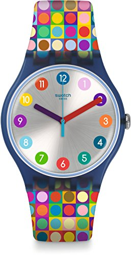 Swatch Damenuhr Digital Quarz mit Silikonarmband – SUON122