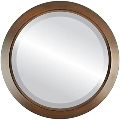 77283aebef72 Round Beveled Wall Mirror for Home Decor - Regatta Style - Mocha - 26x26  outside dimensions