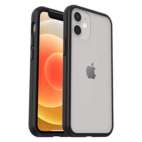 OtterBox Sleek Case - transparente, sturzsichere Schutzhülle für Apple iPhone 12 mini, transparent/schwarz (ohne Einzelhandelsverpackung)
