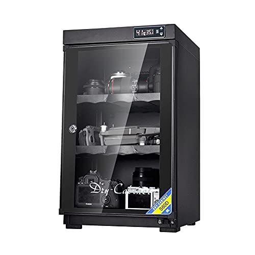 Armadio di essiccazione: armadio di deumidificazione della fotocamera da 60 litri, scatola a prova di umidità a risparmio energetico, conservazione delle apparecchiature elettroniche dell'obietti
