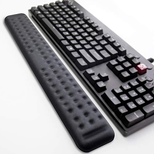Tastatur Handballenauflage Gaming Tenkeyless Memory Foam Hand Handballenauflage Unterstützung für Büro, Computer, Laptop, Mac Eingabe und Handgelenk Schmerzlinderung und Reparatur (44 cm, Schwarz)