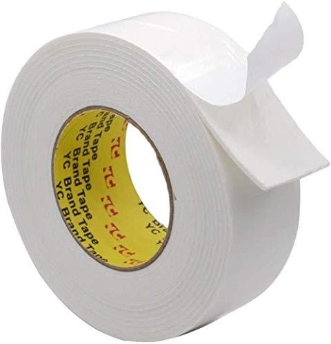 Rollen dubbelzijdig plakband plakband voor geschenken, foto's, documenten, behang, Scrapbooking, ambachten, lint, kaarten en dozen 50mm*3M Kleur: wit