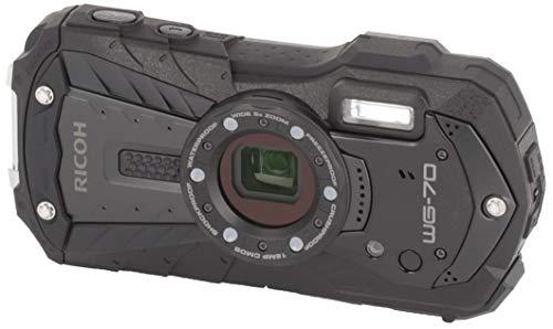 RICOHWG-70ブラックリコー本格防水デジタルカメラ14m防水(連続2時間)1.6m耐衝撃防塵-10℃耐寒アウトドアで活躍するタフネスボディCALSモード搭載で現場記録など幅広いビジネスシーンで活躍03866