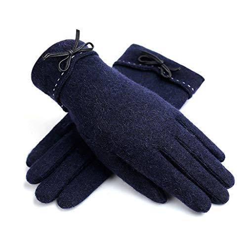 ZXC Home Tragbare Handschuhe Outdoor Sport windundurchlässige warme Handschuhe aus Dicker Baumwolle und Kaschmir, 4 Farben erhältlich (Color : E)