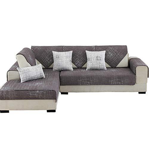 YUTJK Baumwollgraffiti-Drucksofa-Cover,Sofa Überwürfe Sofabezug für L-Form Sofa Abdeckung 2er Set für 3 Sitzer,Schwarz_70×150cm.