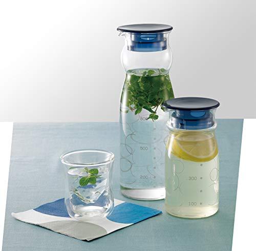 iwaki(イワキ)耐熱ガラスピッチャー冷水筒1.3Lクールサーバー麦茶お茶ポットKBT2887-BL