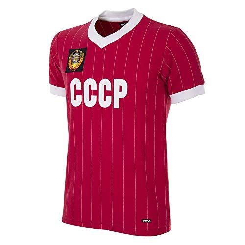 Copa CCCP 1982 - Camiseta de fútbol para Hombre, diseño Retro de fútbol Americano, Not Applicable, CCCP 1982 - Camiseta de fútbol Retro, Hombre, Color Rojo, tamaño Large