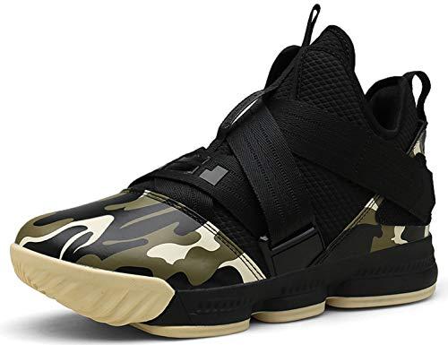 SINOES Los Hombres de Baloncesto Zapatos de Deportes al Aire Libre Alto Top Transpirable Hombres Zapatillas de Baloncesto