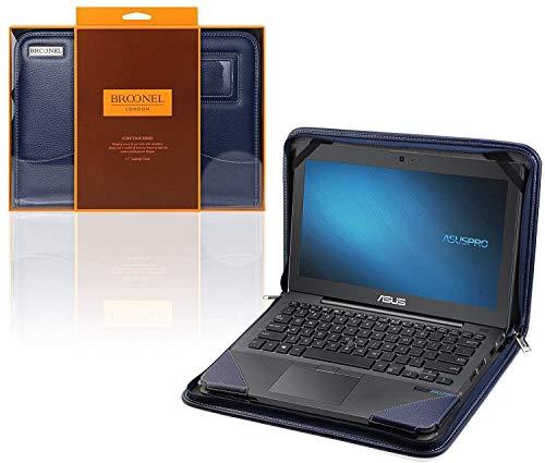 Broonel - Serie Contour - Funda Protectora De Cuero Azul De Alta Resistencia Compatible con La ASUS VivoBook 14 (X413/K413)