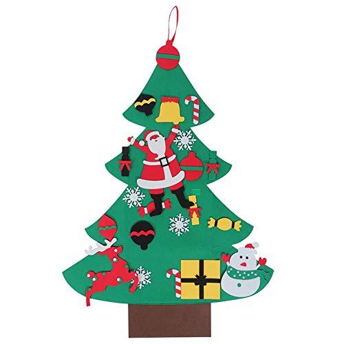 DIY vilten kerstboom handwerk ornamenten Nieuwjaar kerstsymbool deur wandbehang decoratie met magische sticker