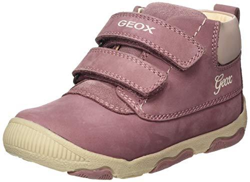 Geox B New Balu' Girl B, Bottines Bébé Fille, Rose (Dk Pink), 21 EU