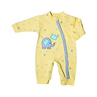 Papillon Embroidered Elephant Long Sleeves Jumpsuit for Girls