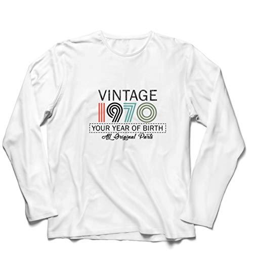 lepni.me Heren T-Shirt Cool Verjaardag Vintage Aangepast Jaar Originele Onderdelen